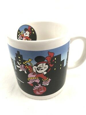 Vintage Disney Mug Minnie Mouse Midnight Lady Rare Collectable EUC Estate Lot