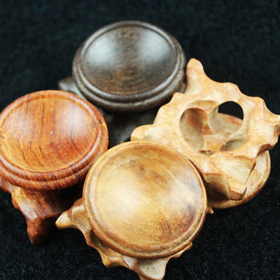 20/30/40mm Natural Rosewood Wood Wooden Stand Holder for Crystal Sphere Ball