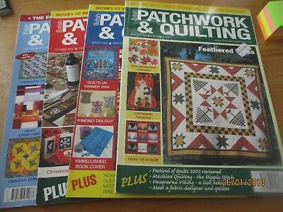 British Patchwork & Quilting Magazine's 4 Issues From 2006 UnCut Job Lot No 8