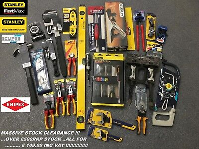 Stanley Stabila Knipex Professional TOOL KIT BUILDERS DIY Enthusiast  WHOLESALE