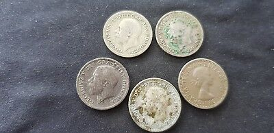 Nice lot of five Sixpences as pictured L104o
