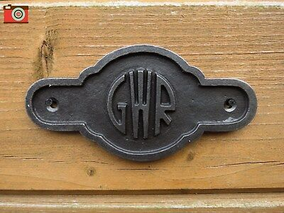 GWR SIGN, PLAQUE. Cast Iron. Vintage Antique Look. Great Western Railway. Nice!