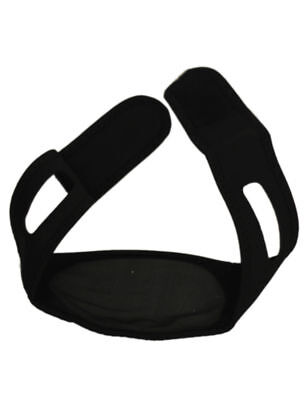 Black - Adjustable Anti Snoring Chin Strap Jaw SLEEP AID Belt Snore