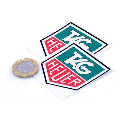 Tag Heuer Stickers Classic Car Racing Vinyl Decals 50mm x2 F1 Rally Sticker