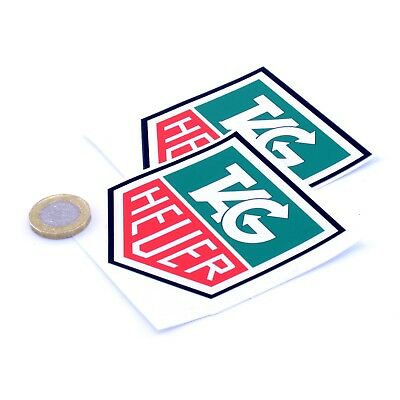 Tag Heuer Stickers Classic Car Racing Vinyl Decals 75mm x2 F1 Rally Sticker