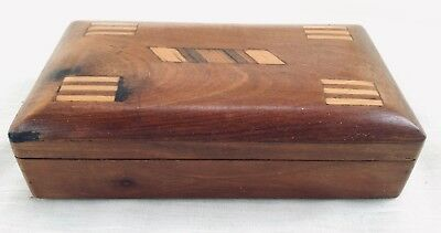 Vintage Marquetry Inlaid Wood Trinket/Jewelry Box