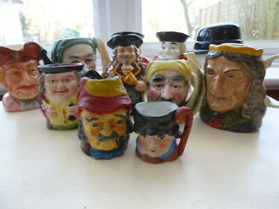 COLCHESTER Job Lot 14 Collectable Hand Painted Toby Jugs Head Figure Man