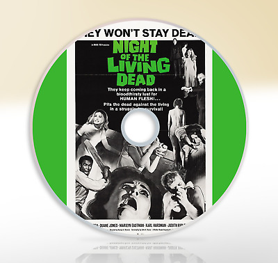 Night of The Living Dead (1968) DVD Classic Horror Movie / Film Duane Jones