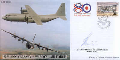CC46c JSCC RAF 80th Lockheed Hercules cover signed AOC 38 Group