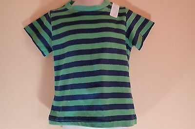 Boys First Impressions Green / Blue Striped T-Shirt Size 24M