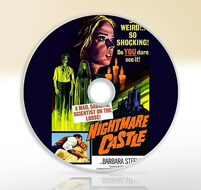 Nightmare Castle (1965) DVD Classic Horror Movie / Film Barbara Steele