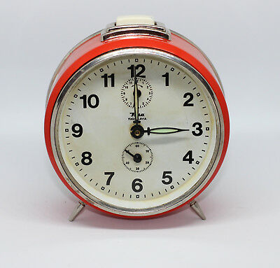 INSA made in Yugoslavia / VINTAGE alarm clock - Red