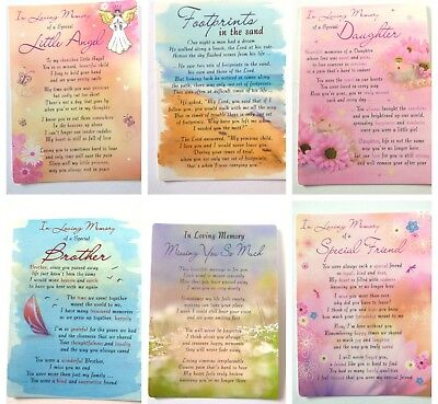 In Loving Memory Plastic Graveside Memorial Bereavement Card Family And Friends