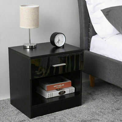 1/2/3 Drawer Bedside Table Night Stand Cabinets Storage Unit Furniture Bedroom