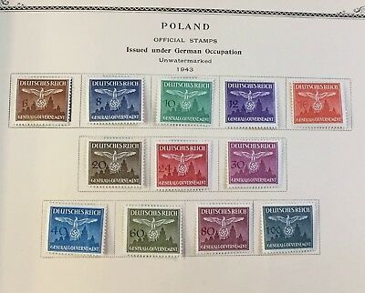 41 Stamps Poland 1940-1944 Issued Under German Occupation - Stamp Set