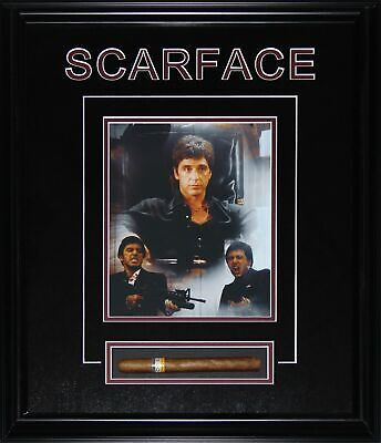 Al Pacino Scarface Cigar Photograph Black Frame