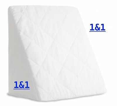 Reclining Quilted Orthopaedic Bed wedge Extra Back Support Pillow Aid Reliever