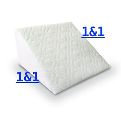 Reclining Orthopaedic Foam Bed Wedge Back Support Quilted Pillow Aid Reliever
