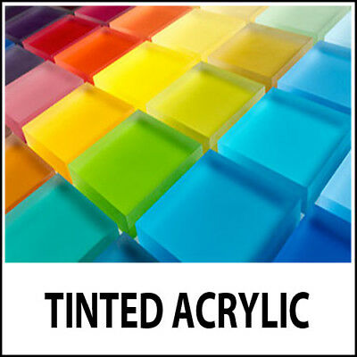 3mm Tinted Colour Perspex Acrylic Plastic Sheet Cut to Size Transparent Glass