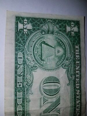 1935G$1 Silver Certificate  WIDE side and bottom brand, crisp Bill very nice