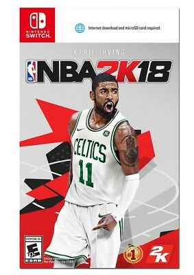 NBA 2K18 (Nintendo Switch, 2017) BRAND NEW / FACTORY SEALED