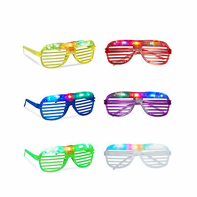 LED Party Glasses Party Eyewear Light-Up Glasses Sparkling Colourful Glasses