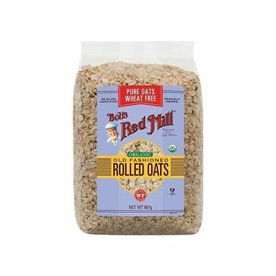 BOB'S RED MILL Organic Wheat Free Pure Rolled Oats 907g