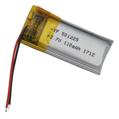 3.7V 110 mAh Polymer Li battery Li-Po For Mp3 GPS Bluetooth pen Sat nav  501225