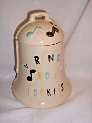 "Vintage ""Ring For Cookies"" Bell Cookie Jar By American Bisque"