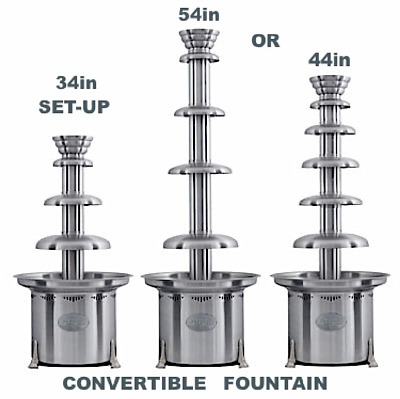 "54"" Convertible Large Commercial Chocolate Fountain For Professional Use"