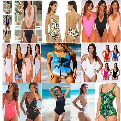 New Women One Piece Bathing Monokini Push Up Padded Bikini Swimsuit Swimwear