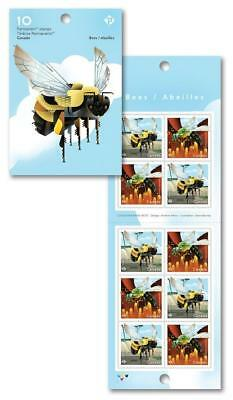2018 CANADA Post ~ BEES Booklet of 10 Permanent Stamps ~ MNH; Bees FREE SHIPPING