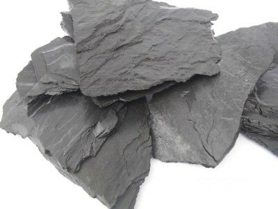 Natural Black Slate Stone For An Aquarium Vivarium Rock Caves Shelters