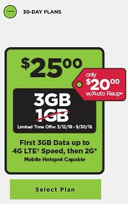 SIMPLE MOBILE PRELOADED SIM CARD with $25 Plan INCLUDED 3GB 4G LTE