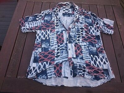 Vintage 80's - 90's solutions funky printed casual shirt mens size L