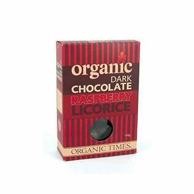 ORGANIC TIMES Dark Chocolate Raspberry Licorice 150g