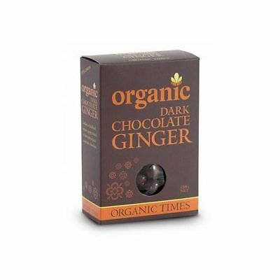 ORGANIC TIMES Dark Chocolate Ginger 150g