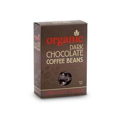 ORGANIC TIMES Dark Chocolate Coffee Beans 150g
