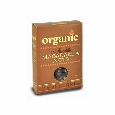 ORGANIC TIMES Dark Chocolate Macadamia Nuts 150g