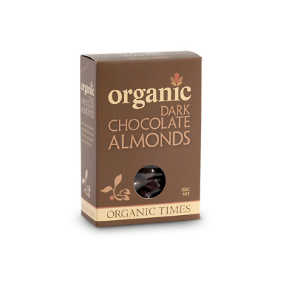 ORGANIC TIMES Dark Chocolate Almonds 150g