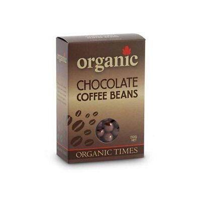 ORGANIC TIMES Milk Chocolate Coffee Beans 150g