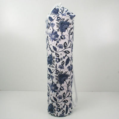 Yoga/Pilates Mat Bag with Adjustable Carry Strap Fits Mat 6mm- Blue Flowers