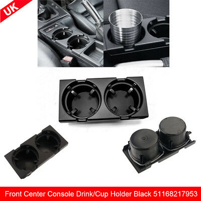 Car Front Center Console Drink/Cup Holder Black For BMW E46 3 Series 51168217953