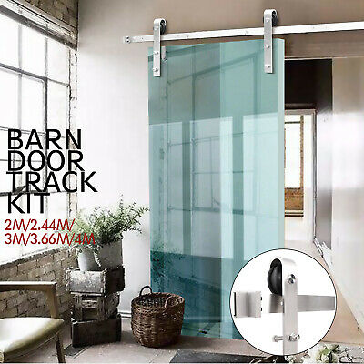 2/2.44/3/3.6/4M Sliding Barn Door Hardware Set Track Kit Interior Closet Home