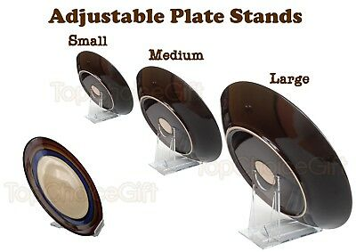 Adjustable Sliding Clear Plastic Plate Disk Display Dish Stand Holder Mount  sc 1 st  PicClick UK & ADJUSTABLE SLIDE SLIDING Clear Plastic Plate Disk Dish Bowl Stand ...