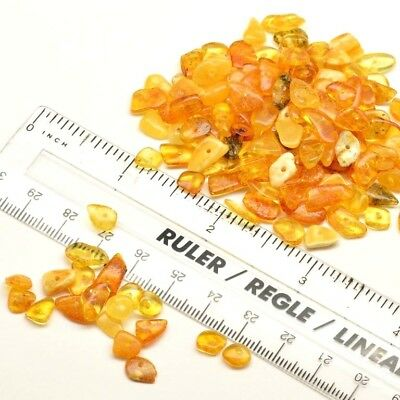100% GENUINE BALTIC AMBER Loose 40/80/200 Chips/Beads with holes - Jewelry Craft