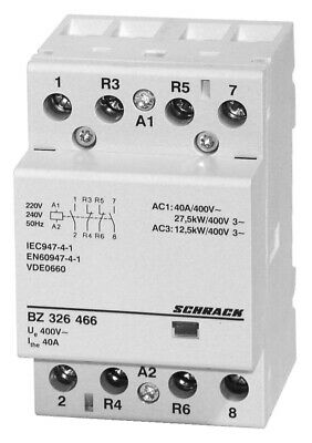 Modular contactor 40A in AC-1, 2NO+2NC contacts, coil voltage 230VAC, width 3M