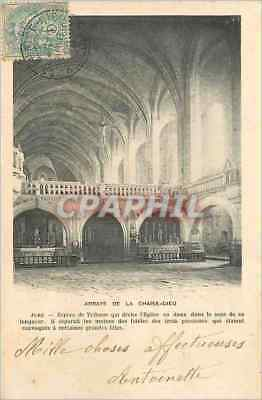 Vintage Postcard Abbey of the Chair God Jube Species of Platform which Divides