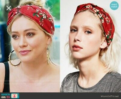 NWT - Zara - Red Floral Headband - Style Of Kelsey Peters, Younger