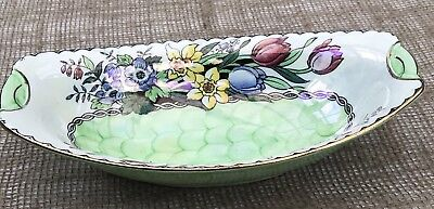 A Maling Art Deco Green Lustre Ware Bowl - Pattern 6524